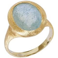 Yvel Green Sapphire Satin Gold Ring