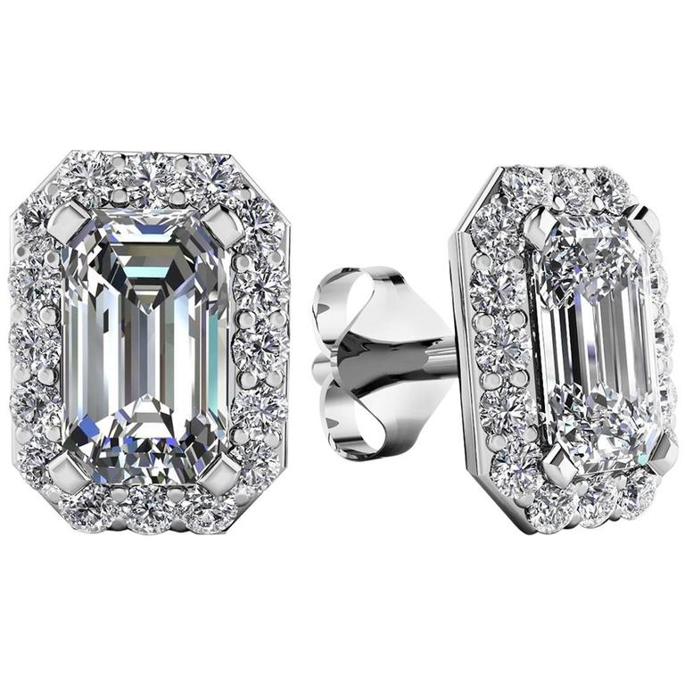 emerald cut stud earrings 1 20 carat emerald cut earrings for sale at 1stdibs 5471