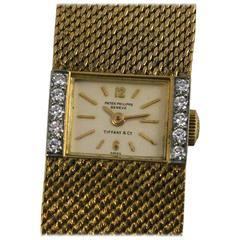 Patek Philippe and Tiffany & Co. Ladies Yellow Gold Diamond Wristwatch