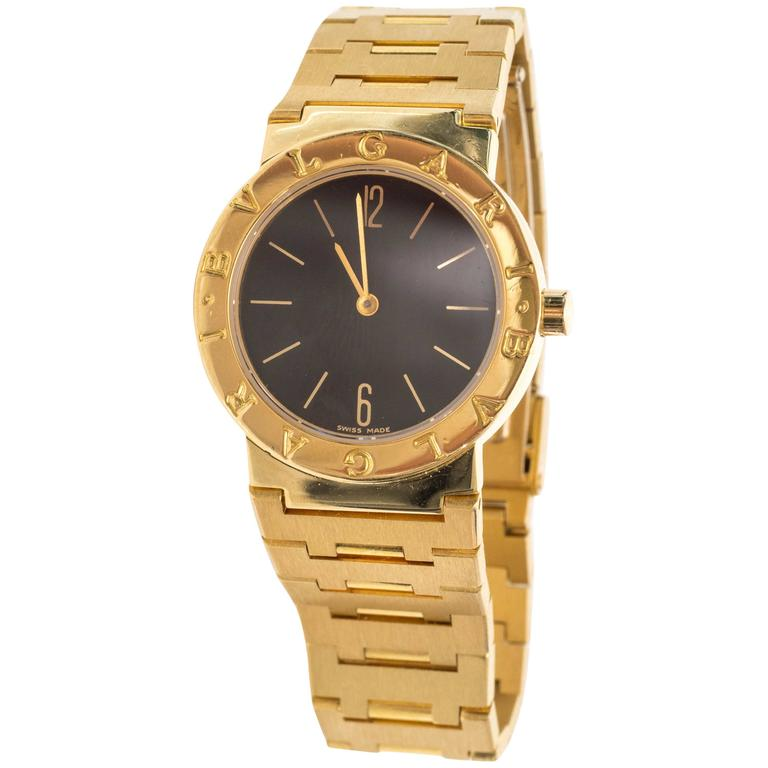 Bulgari Ladies 18 Karat Yellow Gold Wrist Watch