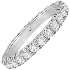 Marisa Perry Five Point Micro Pave Diamond Eternity Ring in Platinum