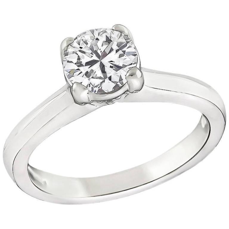 Enticing 0.75 Carat Diamond Solitaire Engagement Ring