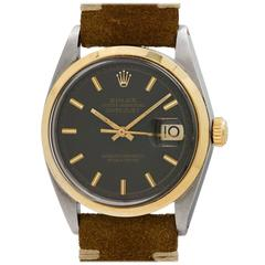 Rolex Yellow Gold Stainless Steel Scirca Oyster Datejust Wristwatch Ref 1600