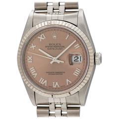 Rolex Yellow Gold Stainless Steel Datejust Wristwatch Ref 16234, circa 1997