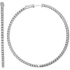 4.15 Carat Large Diameter Diamond Hoops