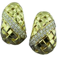 Tiffany & Co. Gold and Diamond Earrings