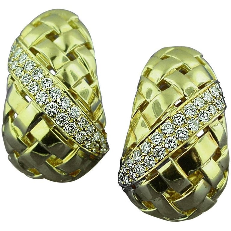 Tiffany & Co. Gold and Diamond Earrings 1