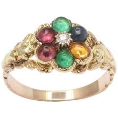Divine Locket Back Acrostic Dearest Ring