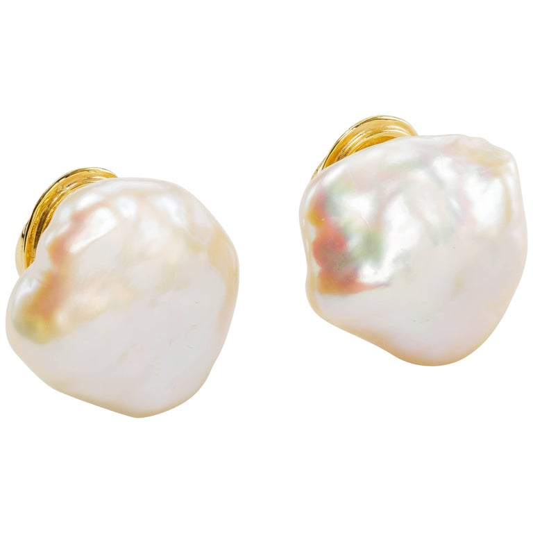 and jewelry baroque pearl earrings metallic mela normal product zirconia gold lyst stud cubic