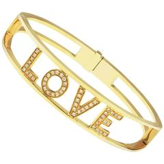 Only You Love 0.49 Carat Diamond Yellow Gold Bracelet Bangle