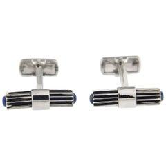 Jona Lapis Lazuli Sterling Silver Bar Cufflinks