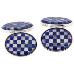 Jona Lapis Lazuli Mother-of-Pearl Sterling Silver Cufflinks