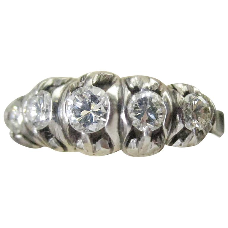 Diamond Platinum Ring, circa 1950