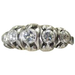 Diamond Platinum Ring, circa 1950