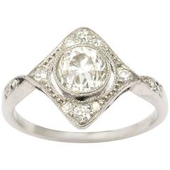 Antique Edwardian Diamond Platinum Ring