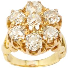Grandeur of a Victorian Old Mine Diamond Cluster Ring
