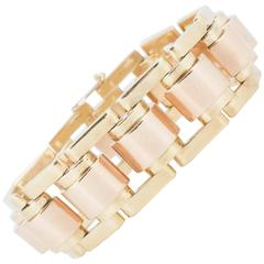 Retro Heavy Yellow and Rose Gold Bracelet