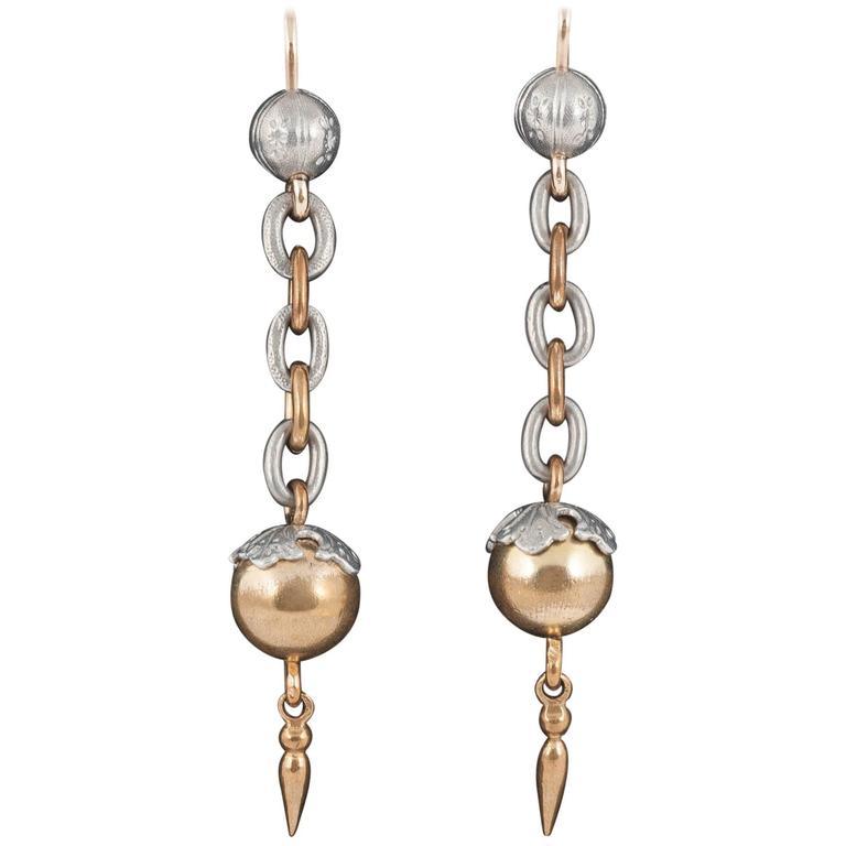 Antique Aluminium Drop Earrings 1