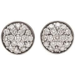 Tycoon Diamond, 14K White Gold Stud Earrings
