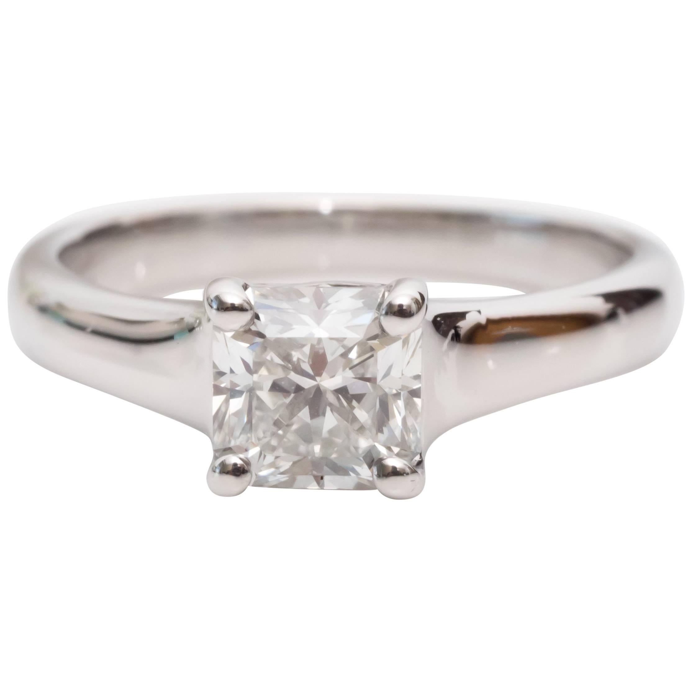 Tiffany and Co Lucida Diamond Engagement Ring For Sale at 1stdibs