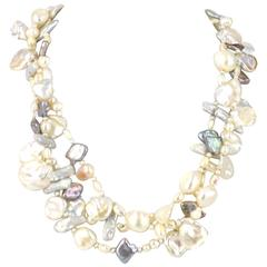 Fresh Water Pearl Three Strand Necklace