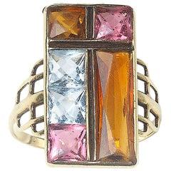 Multi Gem Gold Ring