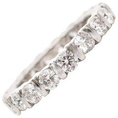 1990s 1.70 Carats Diamond Eternity Band Ring