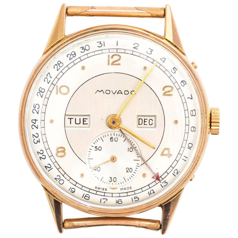 Movado Rose Gold Watch Head 1