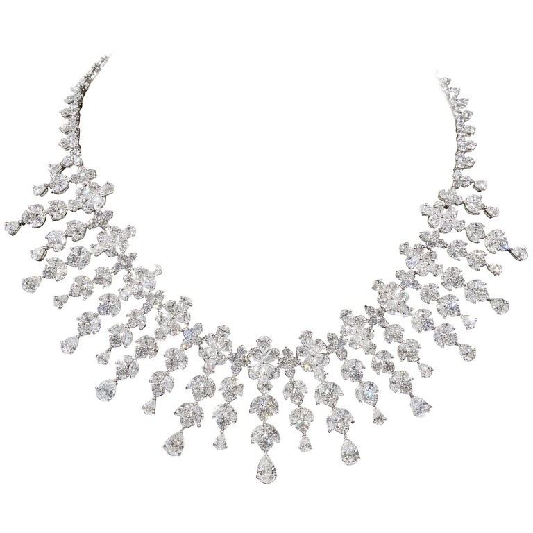 Magnificent Diamond Drop Necklace