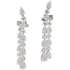 Stunning Diamond Dangle Drop Earrings