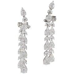 Stunning Diamond Dangle Drop Earrings