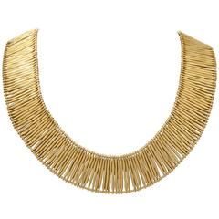 1970s H.Stern Flexible and Sliding Gold Stick Pieces Escalator Necklace