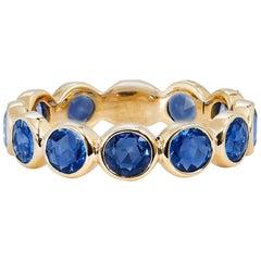 3.00 Carat St. Clair Blue Sapphire Bezel Set Eternity Band ring