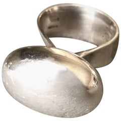 Georg Jensen Modernist Sterling Silver Ring No. 155 by Vivianna Torun (SIZE 6.5)