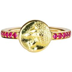 Nemean Lion Ruby Gold Ring