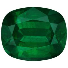 GIA Gubelin Certified Untreated 16.27 Carat Loose Emerald Cushion