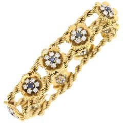Gubelin Sapphire Diamond Yellow Gold Bracelet