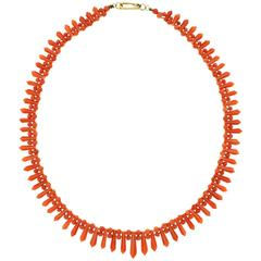 Art Deco Coral Necklace
