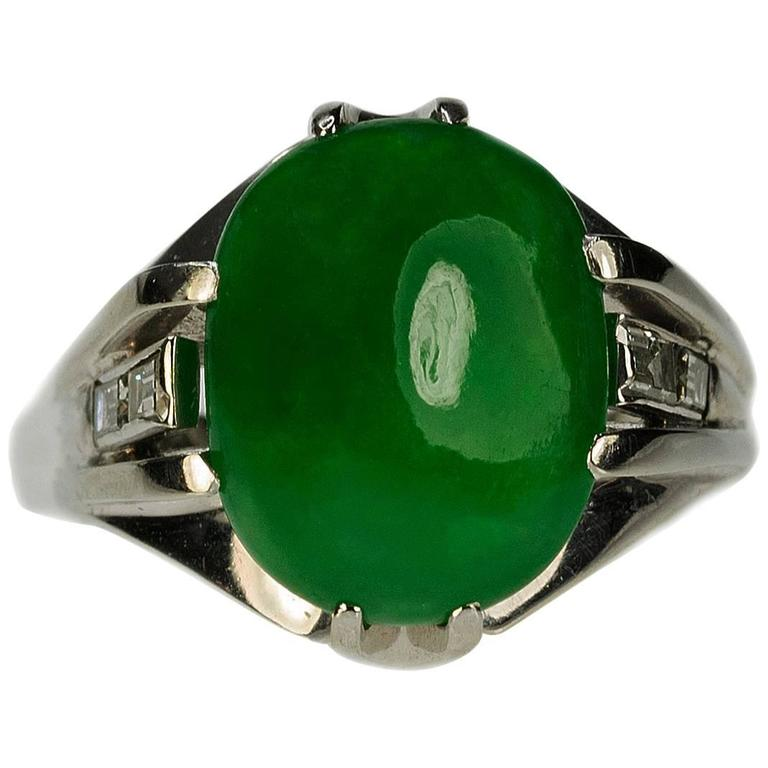 green diamond measurements jade gia stunning natural s jadeite yellow x men mens gjade mm v ring cab rippels oval itm gold