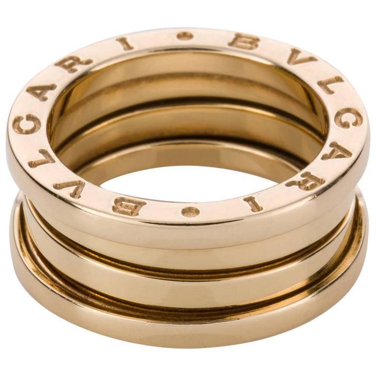 Bulgari B Zero Three-Band 18 Karat Yellow Gold Ring