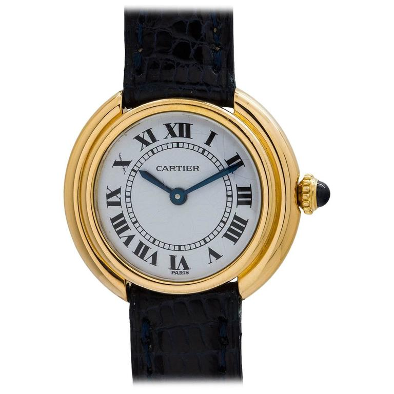 Cartier Ladies yellow gold Vendome Tank manual wind wristwatch, circa 1970s