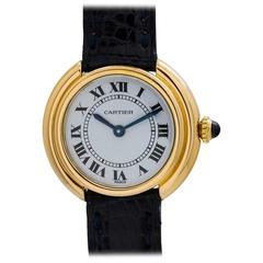 Cartier Ladies yellow gold Vendome Tank manual wind wristwatch, circa 1970s