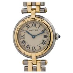 Cartier Ladies yellow gold stainless steel Vendome Panther quartz wristwatch
