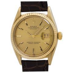 Rolex yellow gold Datejust self winding wrstwatch Ref 1601, circa 1962
