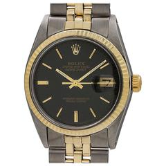 Rolex yellow gold stainless steel Datejust self winding wristwatch, circa 1972
