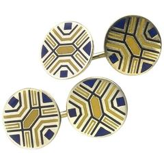 Enamel Gold Cufflinks