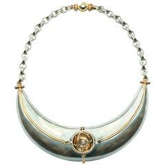Elie Top Mecanique Celeste Collier Scaphandre or Jaune, Diamants