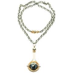 Elie Top Mecanique Celeste Pendentif Sphere or, Onyx, Diamants