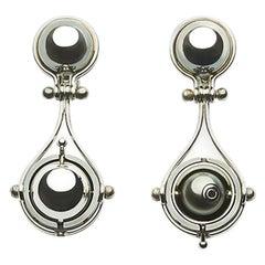 Elie Top Mécanique Céleste Earrings Pluton White Gold Tahiti Pearl Diamonds