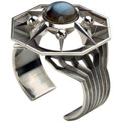 Elie Top Etoile Mysterieuse Bracelet Hexa Argent, Labradorite